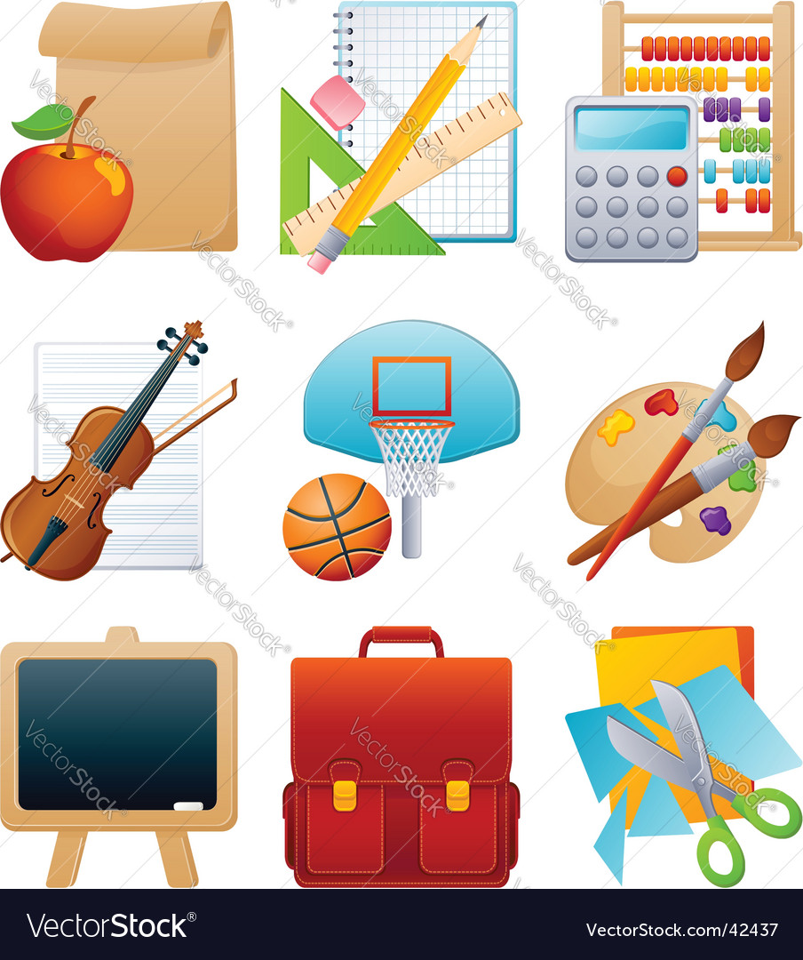 Education icon set vector | Price: 3 Credit (USD $3)