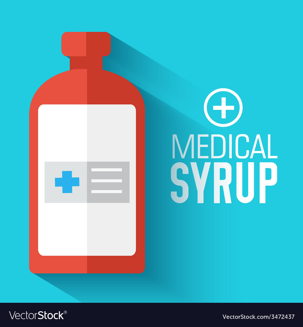 Flat medical syrup background concept vector | Price: 1 Credit (USD $1)