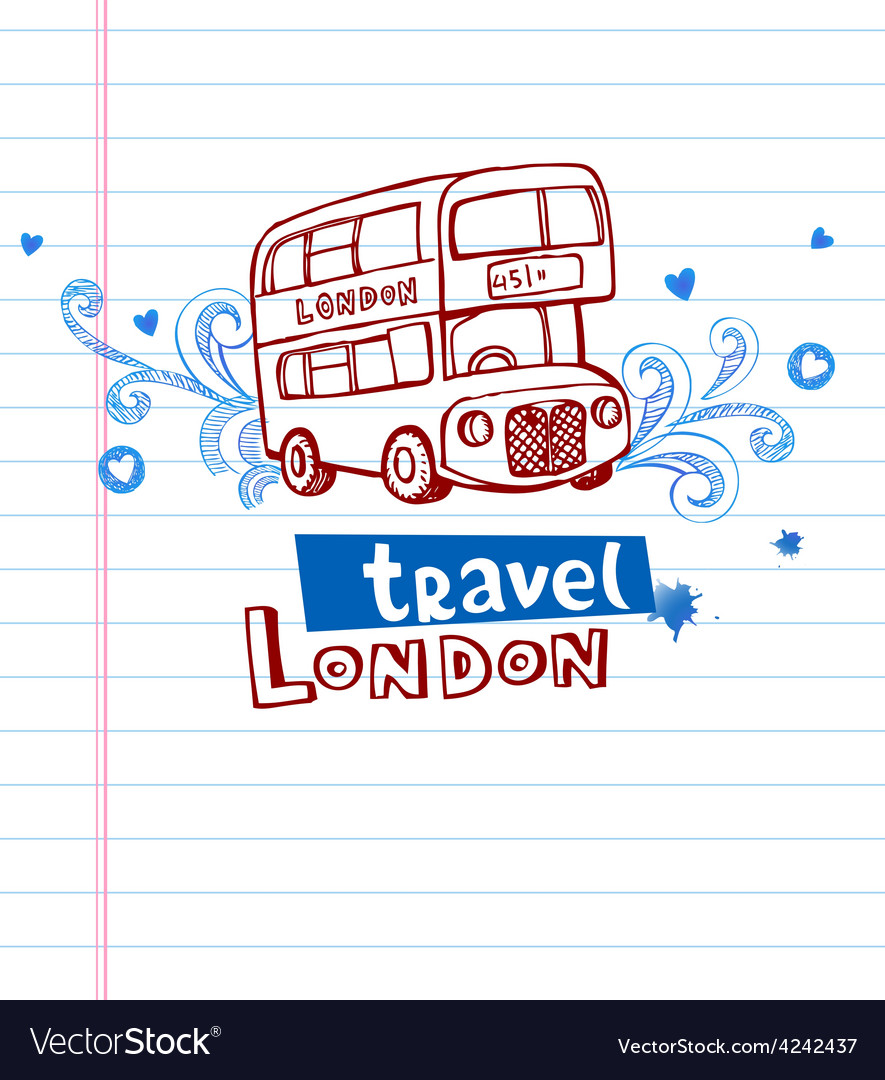 Greeting card from london vector