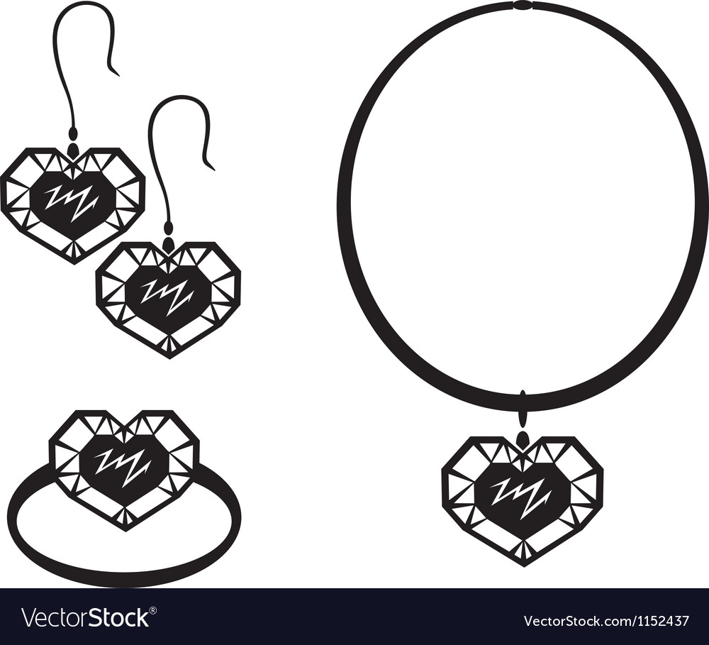 Heart jewelry vector | Price: 1 Credit (USD $1)