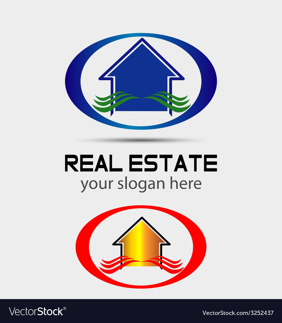 House logo for real estate companies vector | Price: 1 Credit (USD $1)