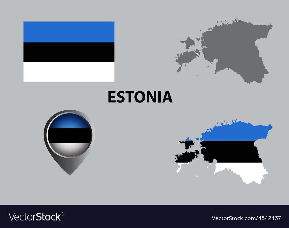 Map of estonia and symbol vector | Price: 1 Credit (USD $1)