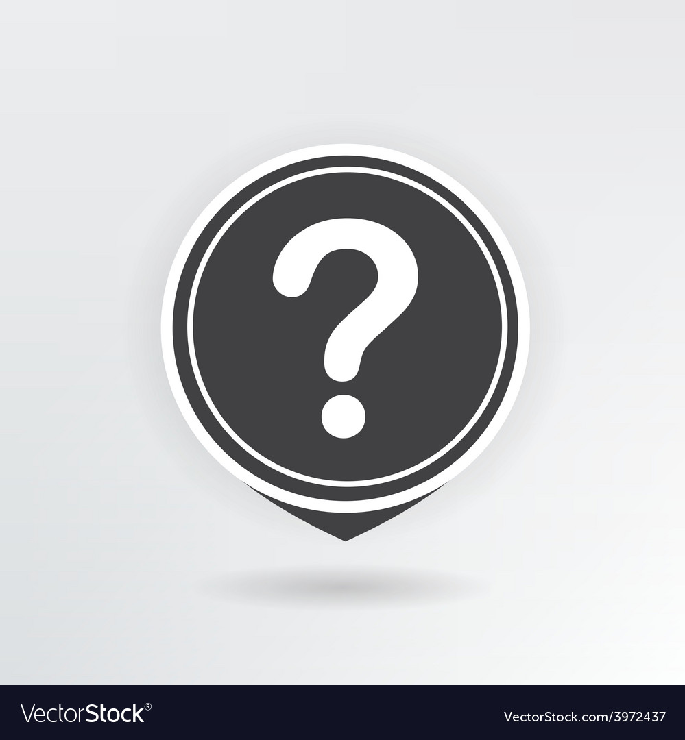 Question map pointer vector | Price: 1 Credit (USD $1)