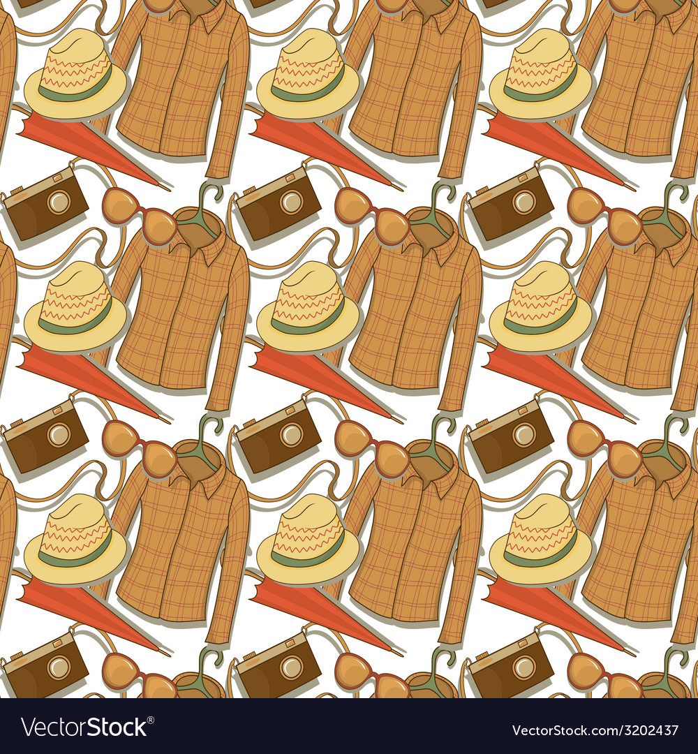 Seamless pattern with elements of the hipster vector | Price: 1 Credit (USD $1)