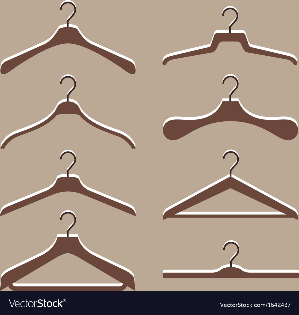 Set of cute hanger clothes vector | Price: 1 Credit (USD $1)