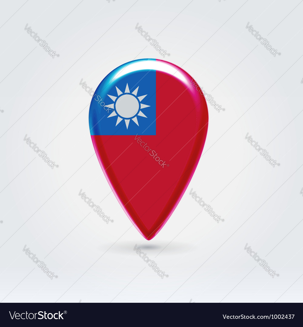 Taiwan icon point for map vector | Price:  Credit (USD $)