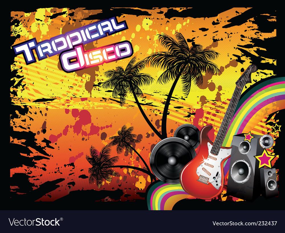Tropical disco flyer vector | Price: 3 Credit (USD $3)