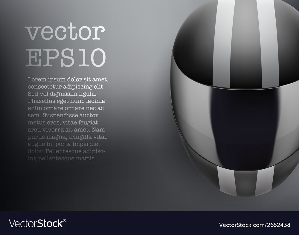 Background of black motorcycle helmet with strip vector | Price: 1 Credit (USD $1)