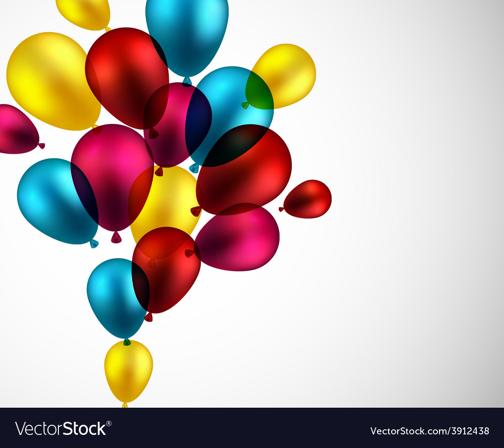 Celebrate background with balloons vector | Price: 1 Credit (USD $1)