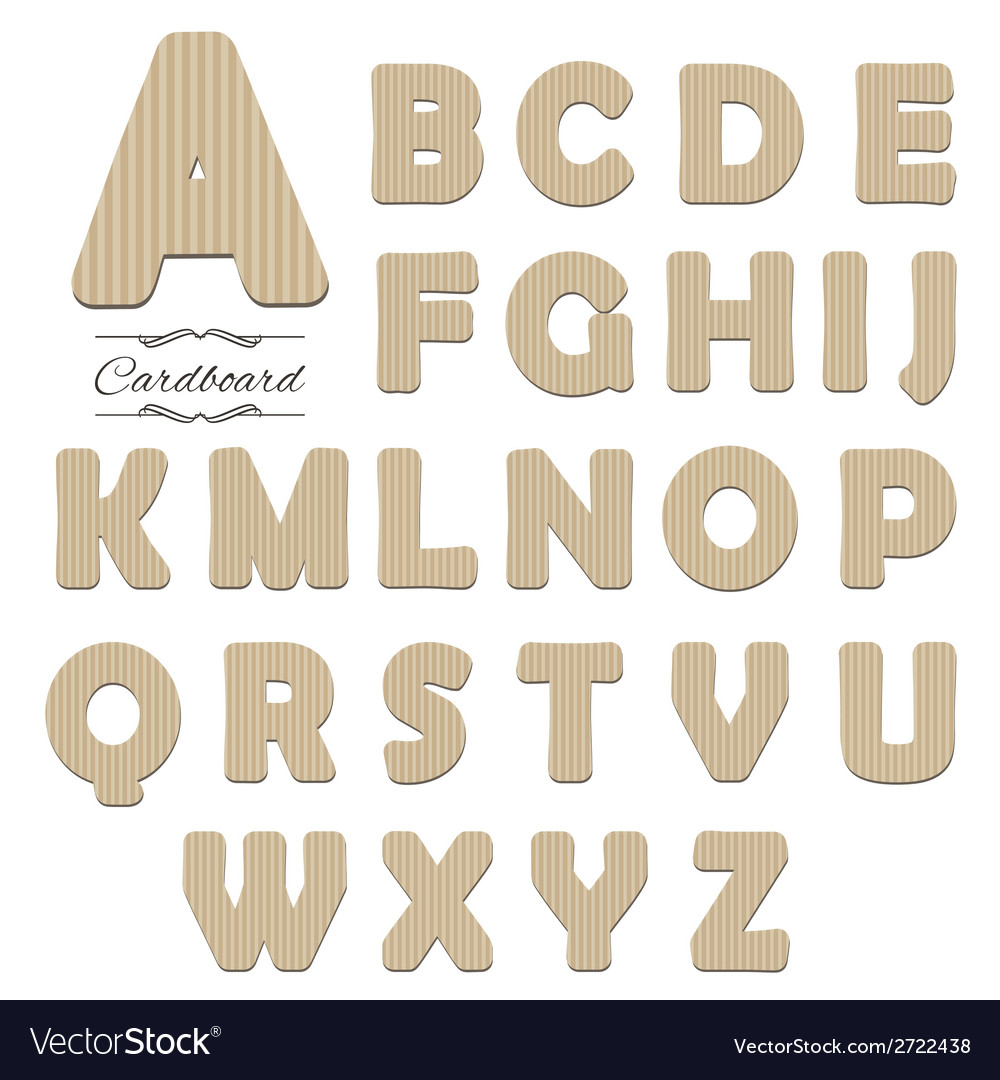 Cut out cardboard font vector | Price: 1 Credit (USD $1)