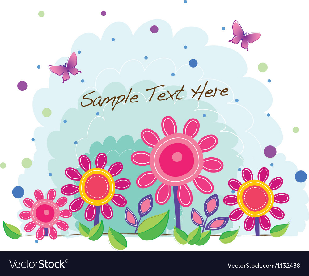 Funky flower pot vector | Price: 1 Credit (USD $1)