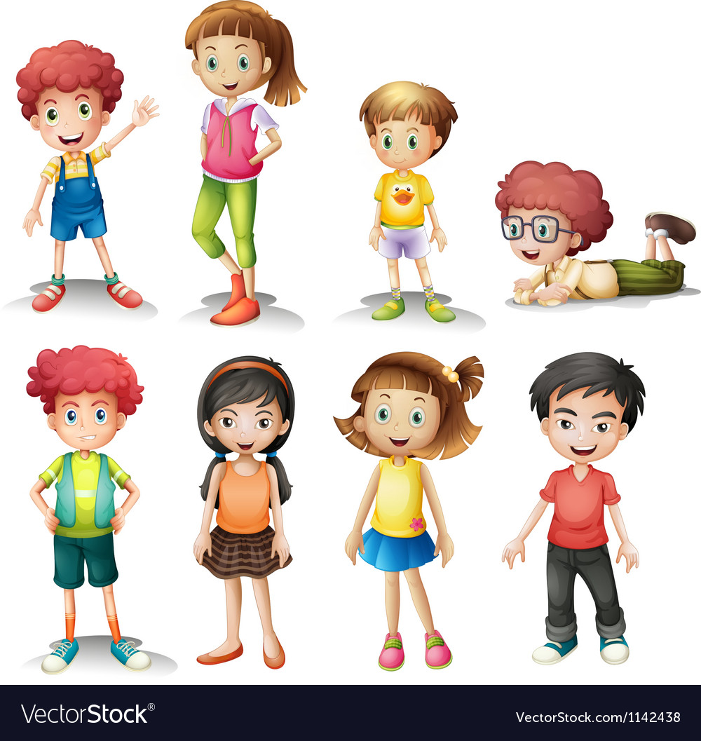Group of kids vector | Price: 1 Credit (USD $1)