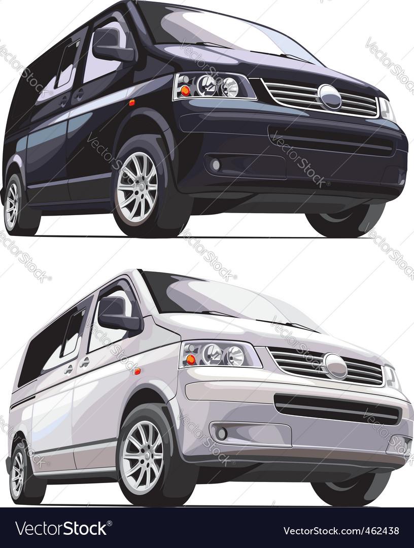 Modern european vans vector | Price: 3 Credit (USD $3)