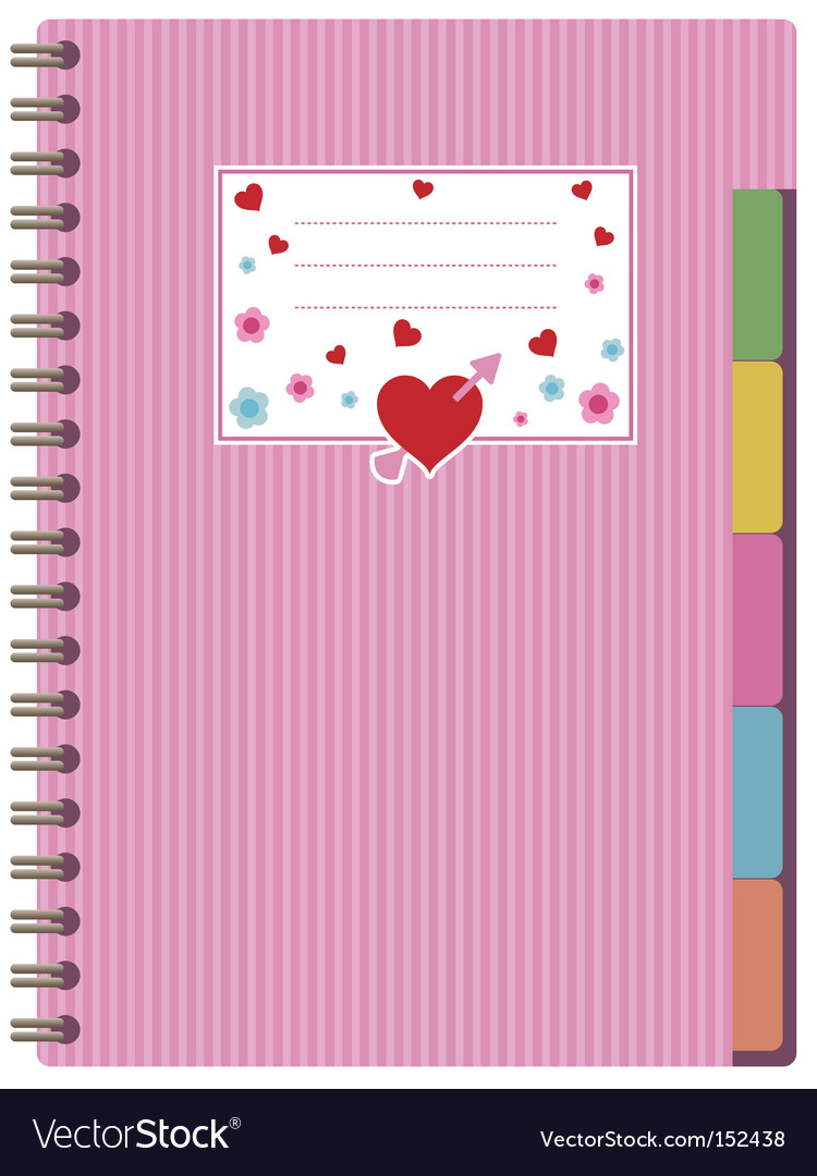 Pink notebook vector | Price: 1 Credit (USD $1)