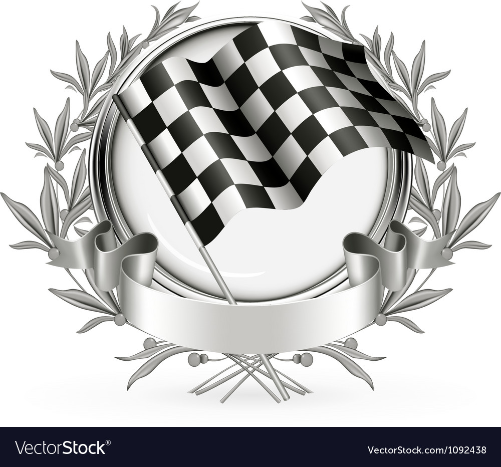 Racing emblem vector | Price: 1 Credit (USD $1)