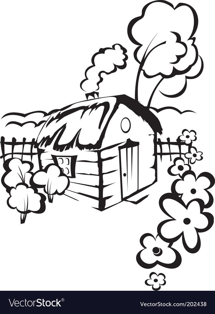 Village house vector | Price: 1 Credit (USD $1)