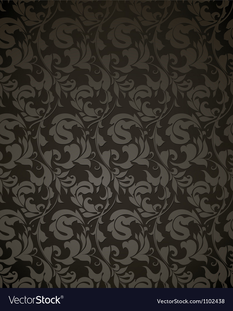 Wallpaper pattern black vector | Price: 1 Credit (USD $1)