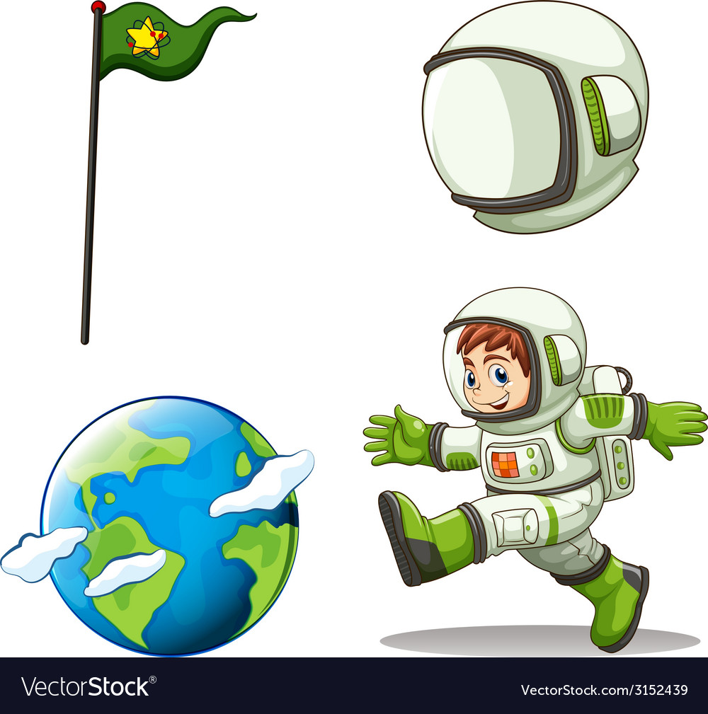 A happy astronaut vector | Price: 1 Credit (USD $1)