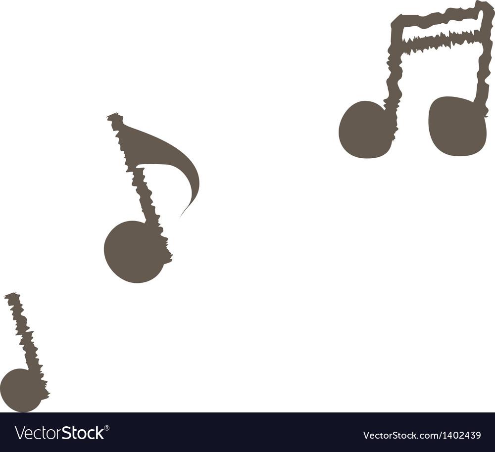 A musical symbol vector