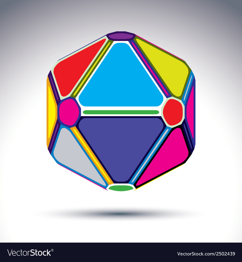 Abstract complex 3d ball with treasure effect vector | Price: 1 Credit (USD $1)
