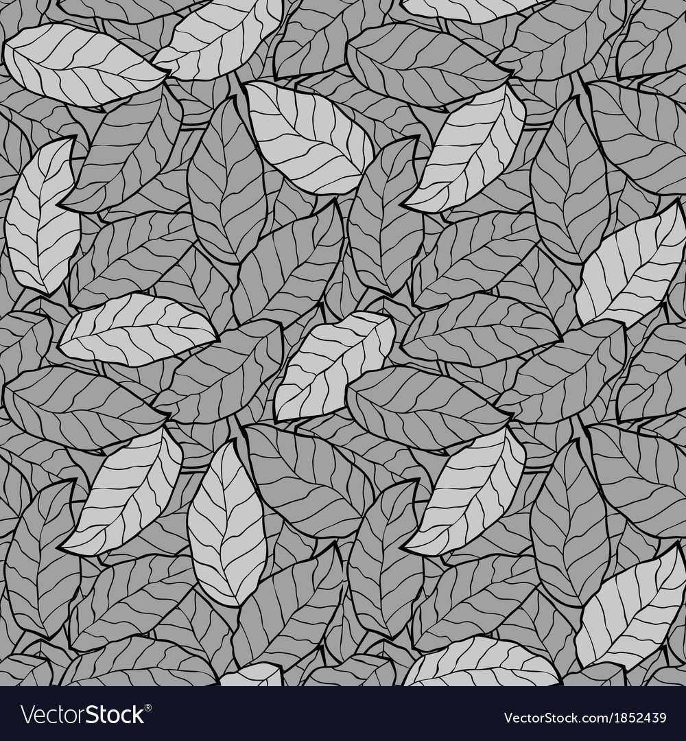 Abstract foliage leaf seamless background vector | Price: 1 Credit (USD $1)
