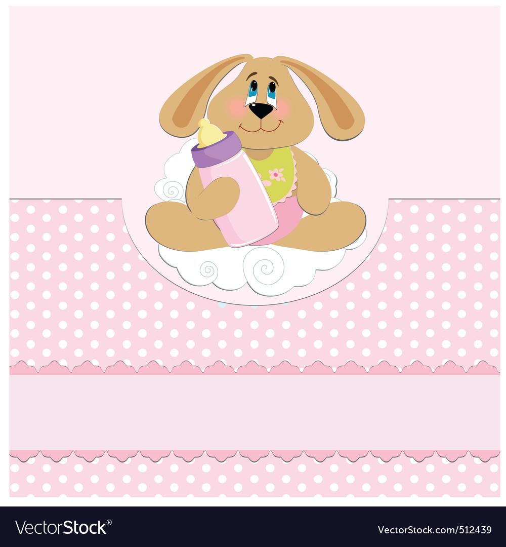 Babys greetings card vector | Price: 1 Credit (USD $1)