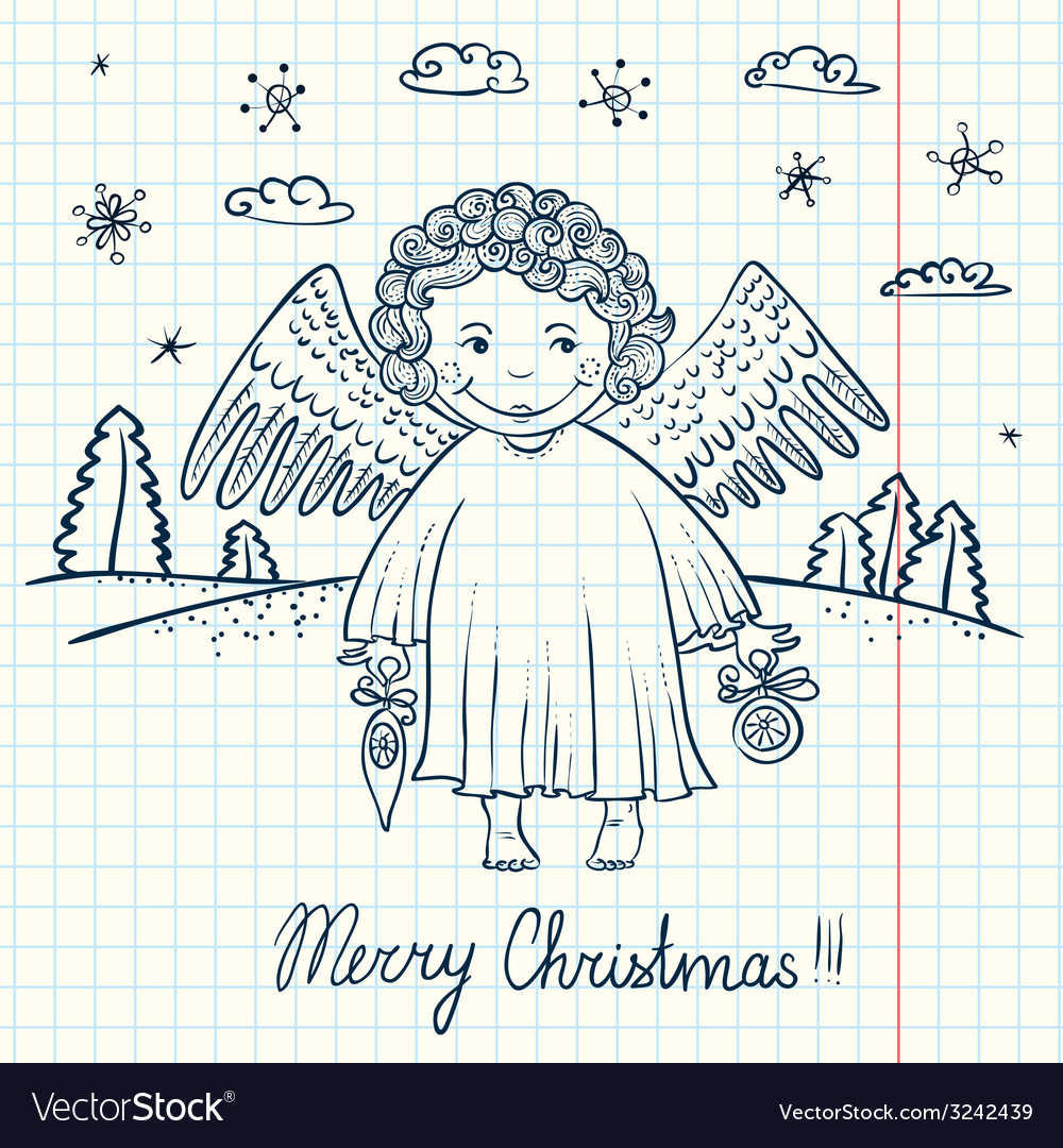Christmas angel vector | Price: 1 Credit (USD $1)