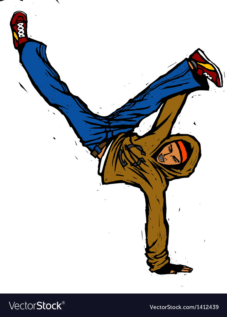 Close-up of man dancing vector | Price: 3 Credit (USD $3)