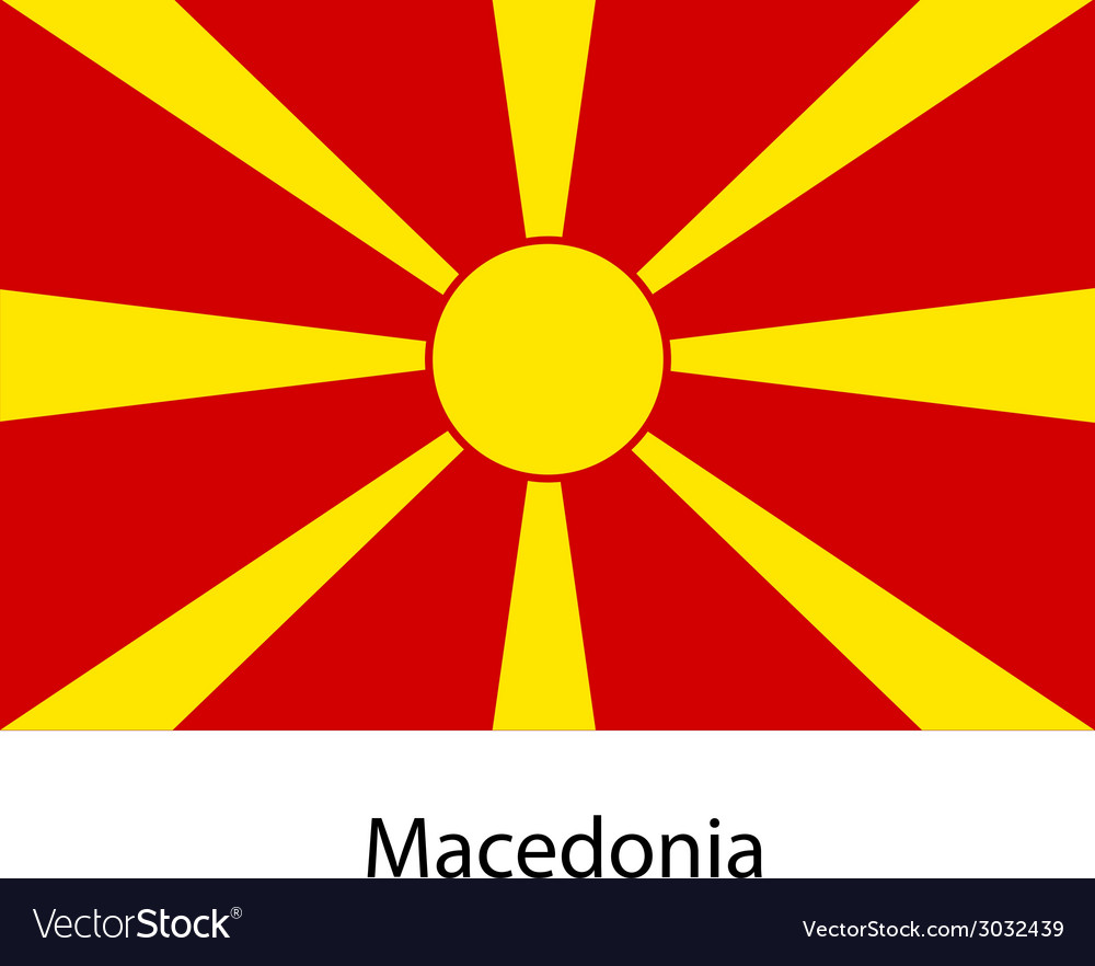 Flag of the country macedonia vector | Price: 1 Credit (USD $1)