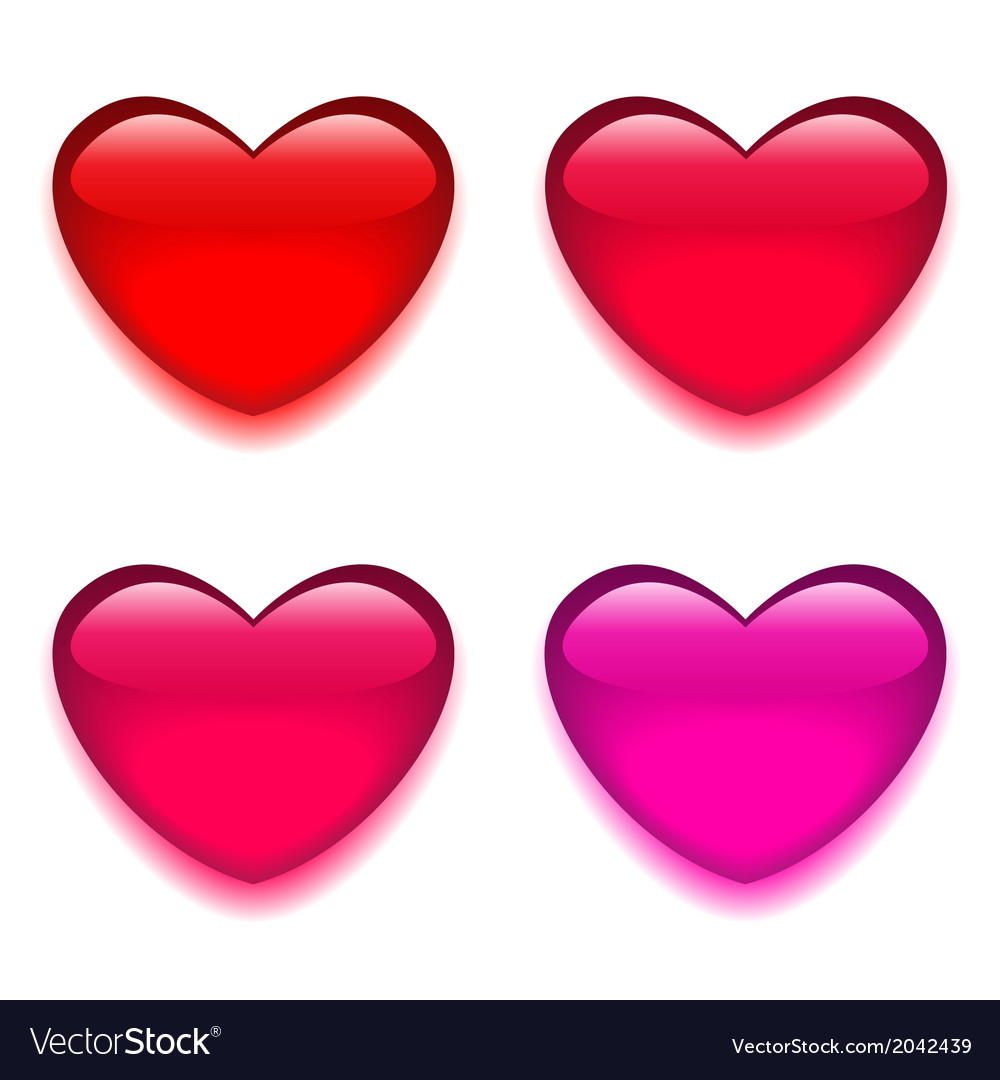 Glass red pink heart vector | Price: 1 Credit (USD $1)