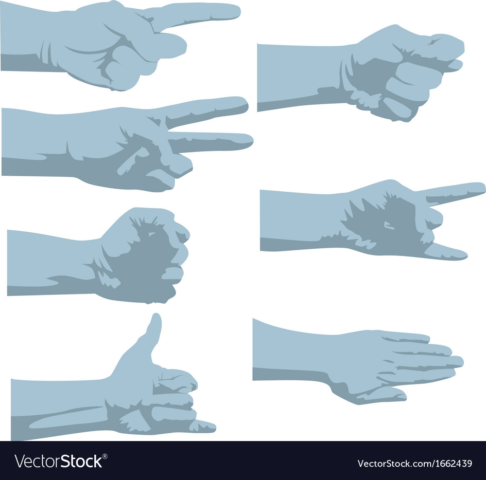 Hands silhouette vector | Price: 1 Credit (USD $1)