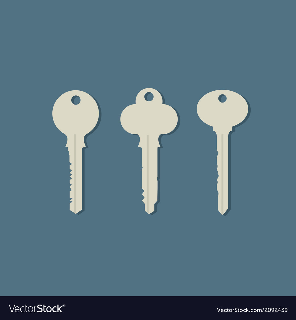 Set of keys vector | Price: 1 Credit (USD $1)
