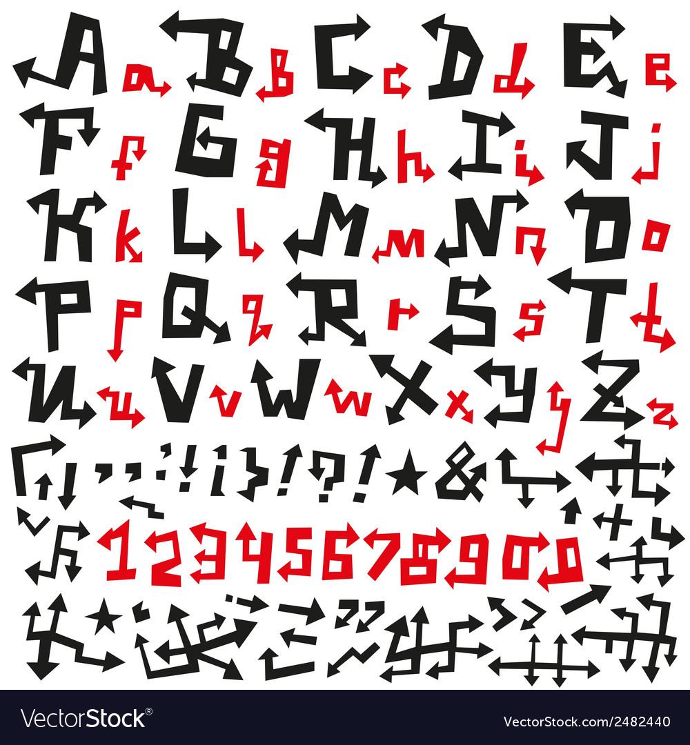 Alphabet arrows font vector   Price: 1 Credit (USD $1)