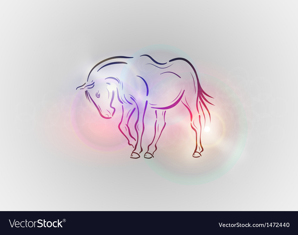 Background abstract with horse vector | Price: 1 Credit (USD $1)