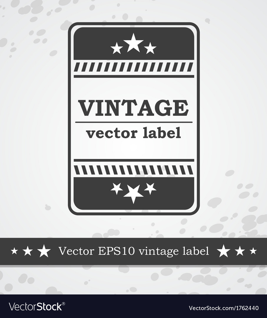 Black label with retro vintage styled design vector | Price: 1 Credit (USD $1)