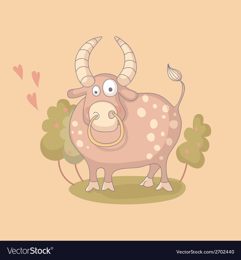 Cartoon of the bull vector | Price: 1 Credit (USD $1)