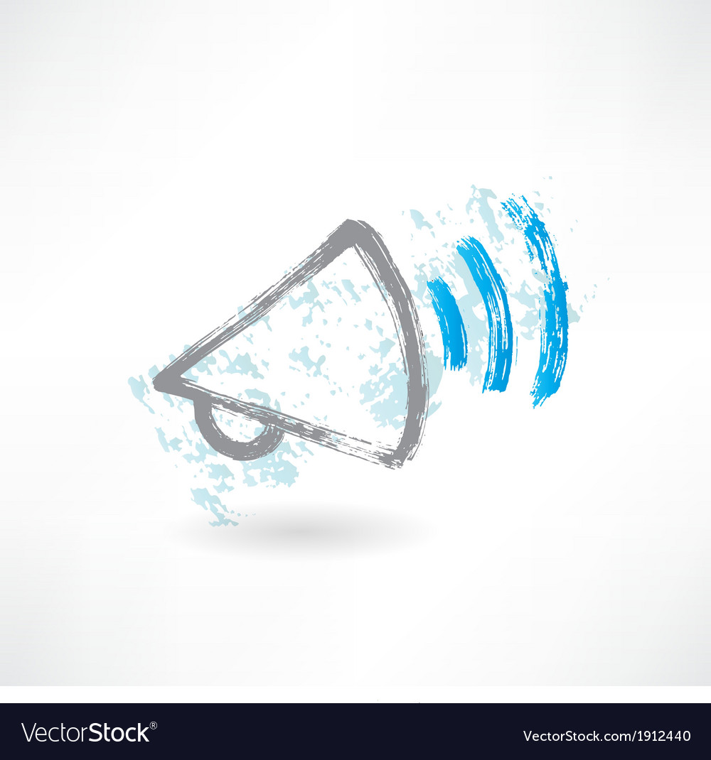 Cartoon shouting megaphone brush icon vector | Price: 1 Credit (USD $1)