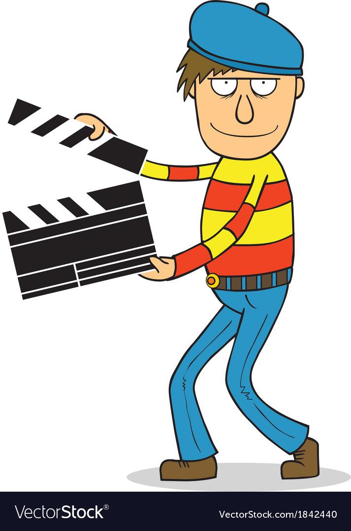 Director cartoon vector | Price: 1 Credit (USD $1)