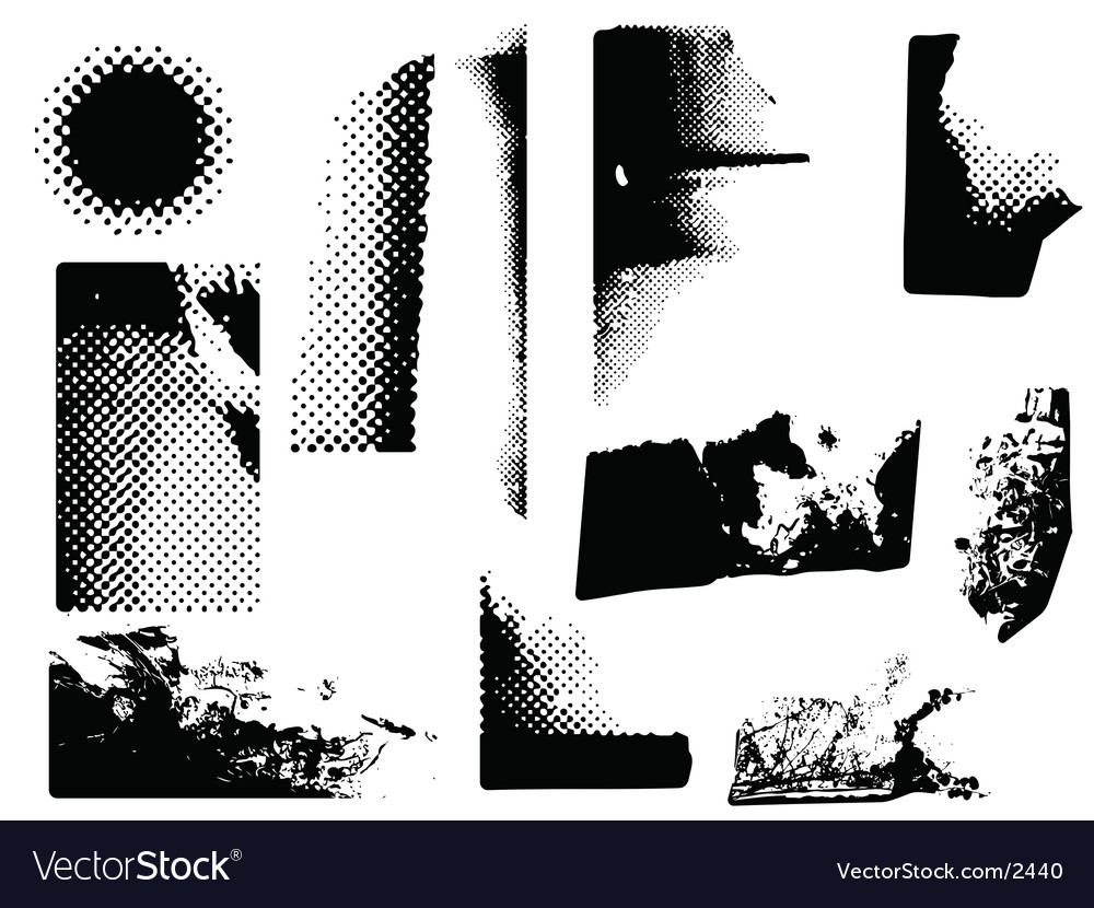 Grunge corners vector | Price: 1 Credit (USD $1)