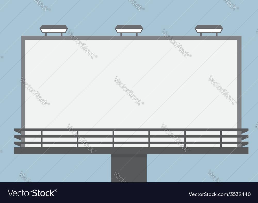 Outdoor blank billboard vector | Price: 1 Credit (USD $1)