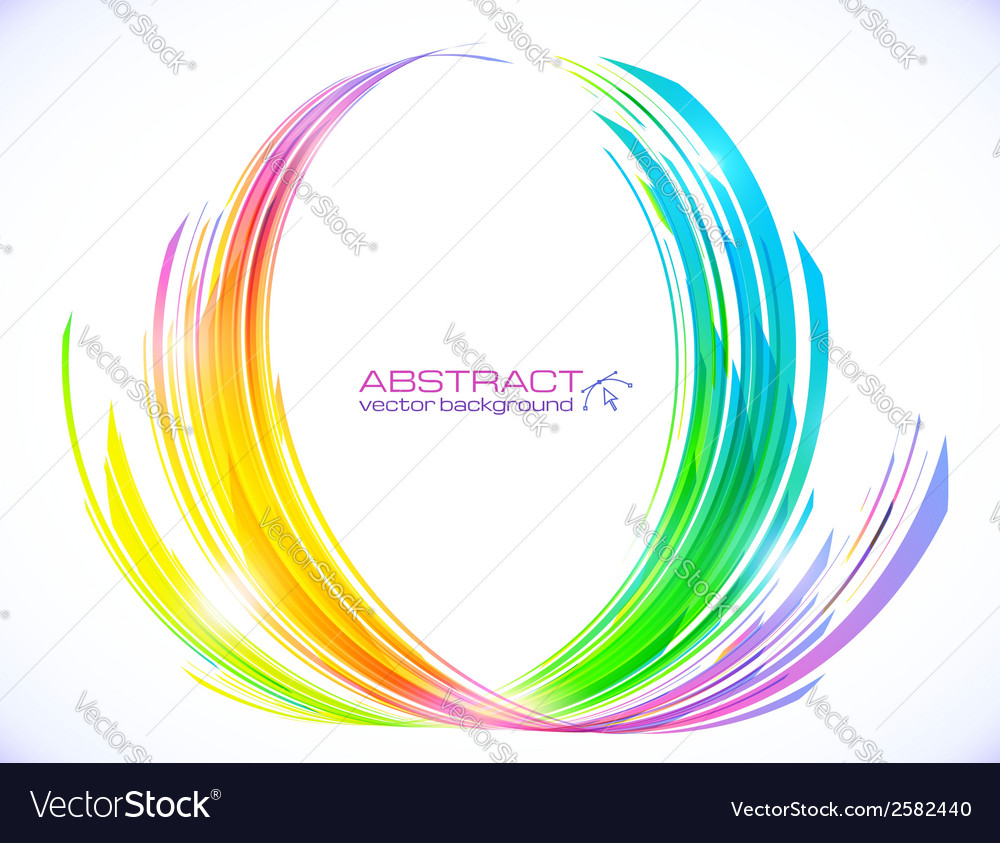Rainbow colors abstract lotus flower symbol vector | Price: 1 Credit (USD $1)