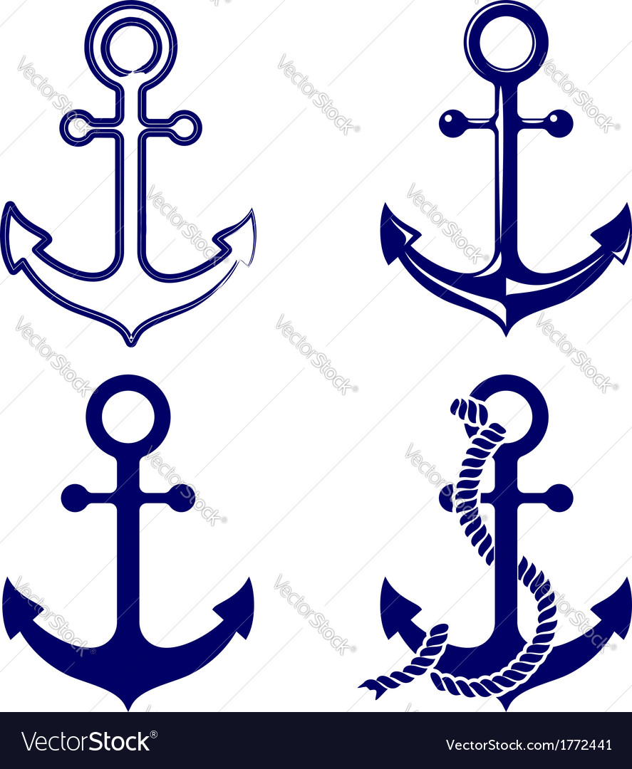 Anchor symbols set vector | Price: 1 Credit (USD $1)