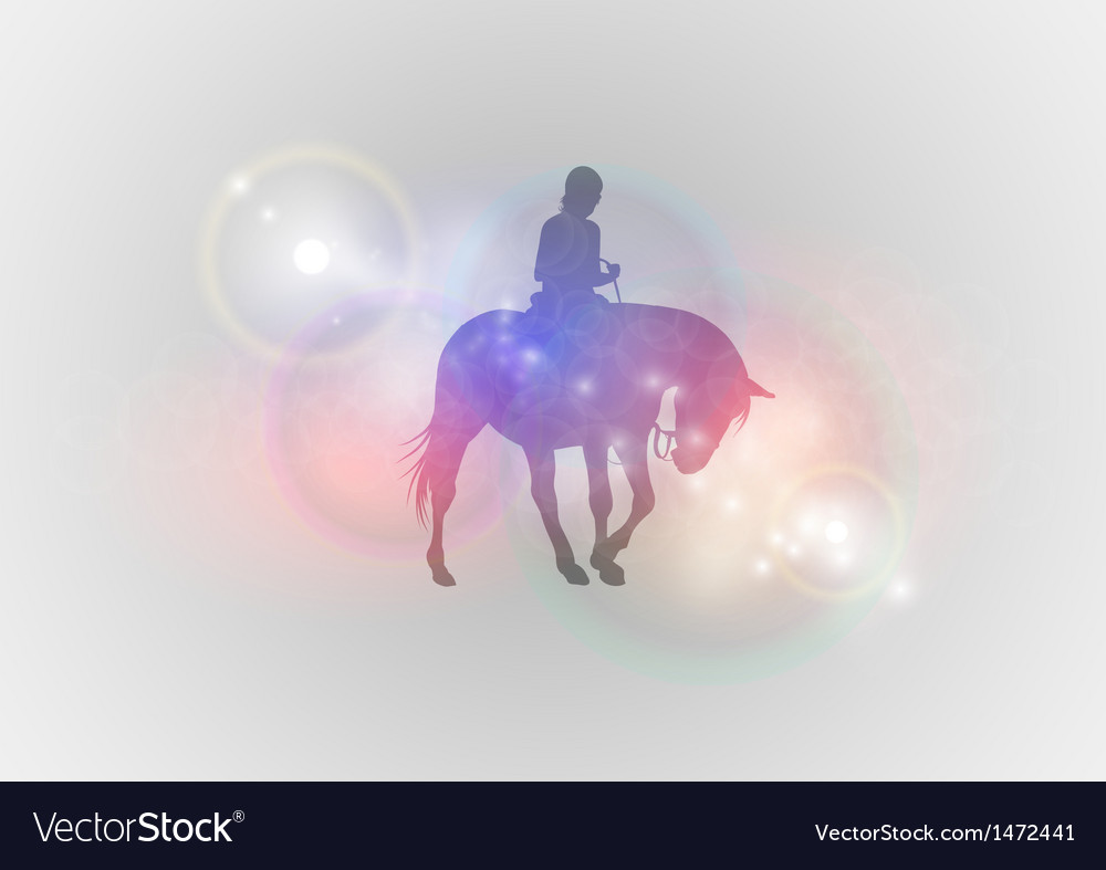 Background abstract with horse riding vector | Price: 1 Credit (USD $1)