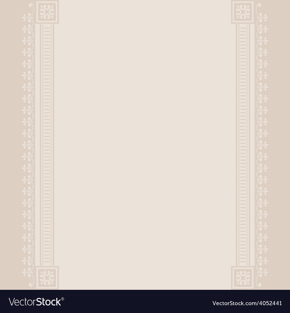 Border vintage beige background vector | Price: 1 Credit (USD $1)
