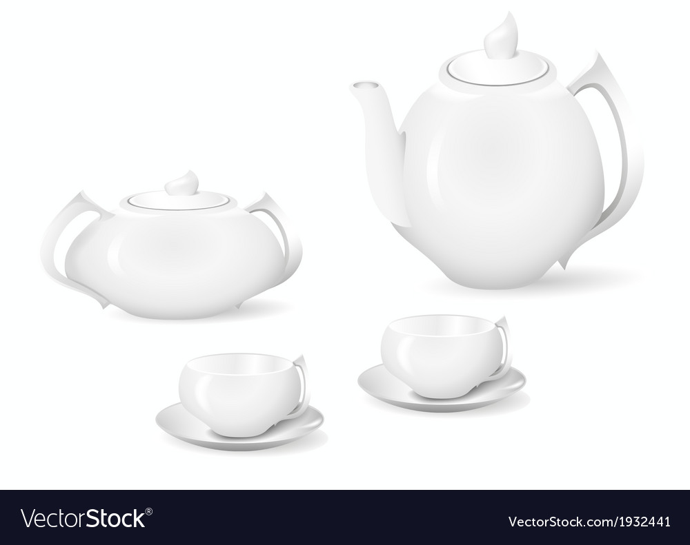 Crockery for tea and coffee vector | Price: 1 Credit (USD $1)
