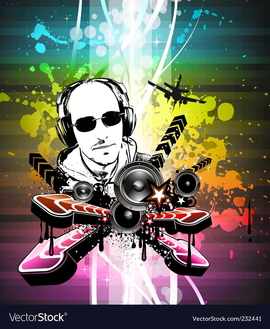 Disco flyer vector | Price: 3 Credit (USD $3)