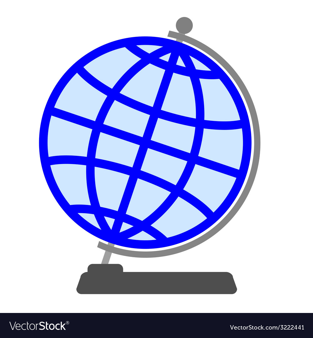 Globe on a white background vector | Price: 1 Credit (USD $1)