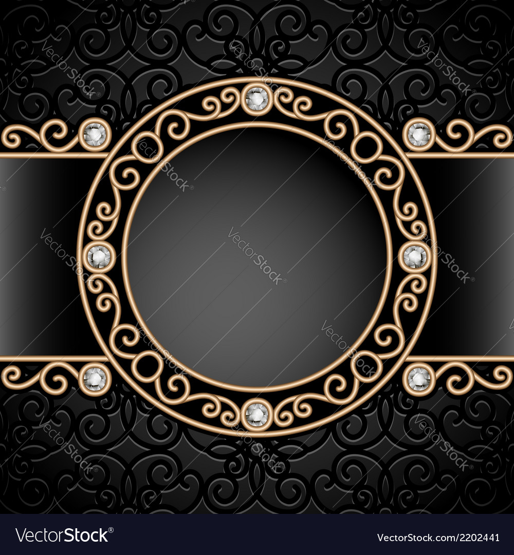 Gold jewelry vignette vector | Price: 1 Credit (USD $1)