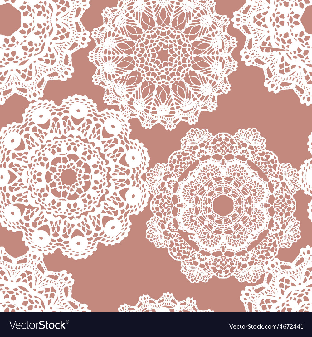 Lace white seamless mesh pattern vector | Price: 1 Credit (USD $1)