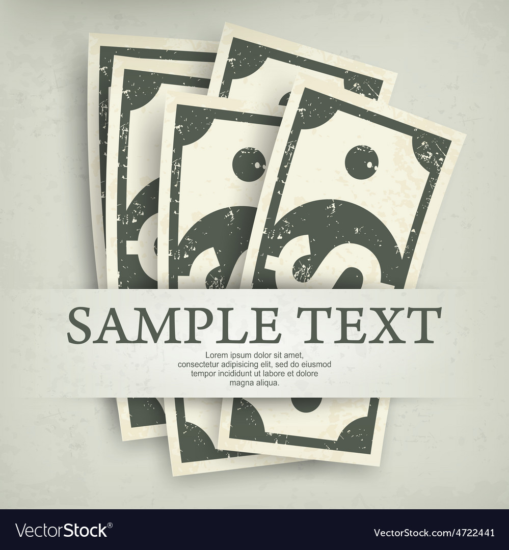 Paper bank notes  text vector   Price: 1 Credit (USD $1)